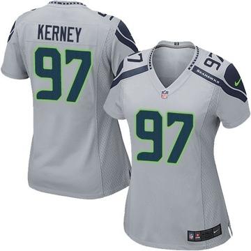 Women's Seattle Seahawks Patrick Kerney Grey Game Alternate Jersey By Nike