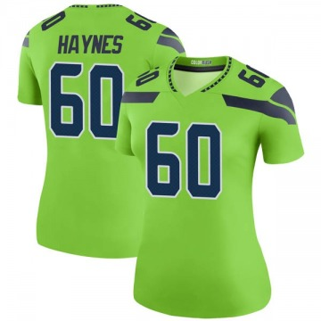 Women's Seattle Seahawks Phil Haynes Green Legend Color Rush Neon Jersey By Nike