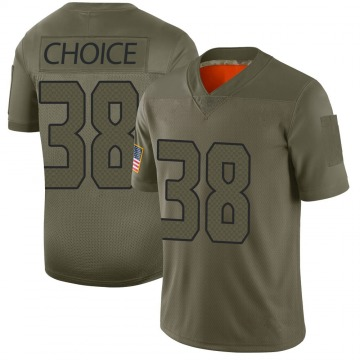Youth Seattle Seahawks Adam Choice Camo Limited 2019 Salute to Service Jersey By Nike