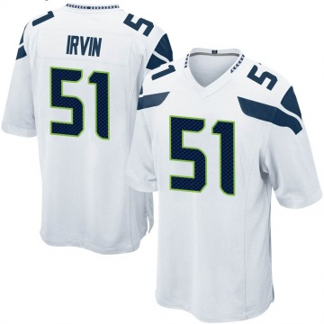 Youth Seattle Seahawks Bruce Irvin White Game Jersey By Nike