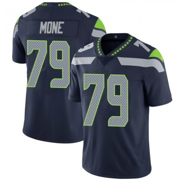 Youth Seattle Seahawks Bryan Mone Navy Limited 100th Vapor Jersey By Nike