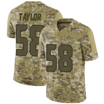Youth Seattle Seahawks Darrell Taylor Camo Limited 2018 Salute to Service Jersey By Nike