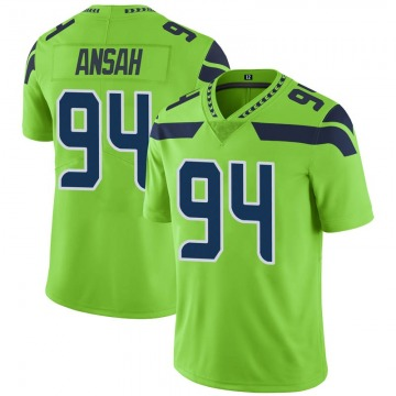 Youth Seattle Seahawks Ezekiel Ansah Green Limited Color Rush Neon Jersey By Nike